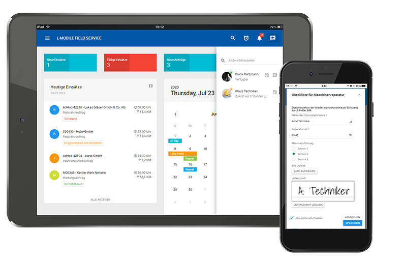 Dashboard_Reporting_L-mobile_Service_App_Management_Software_Servicetechniker_App